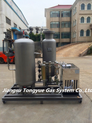 ประเทศจีน 99.999% Purity Stainless Steel PSA Nitrogen Generator 0.1-0.65 Mpa For Food Fresh Packing โรงงาน